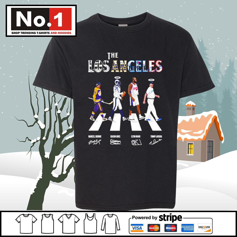 The Los Angeles Marcel Dionne Deacon Jones Elton Brand Tommy Lasorda signatures Abbey Road s youth-tee