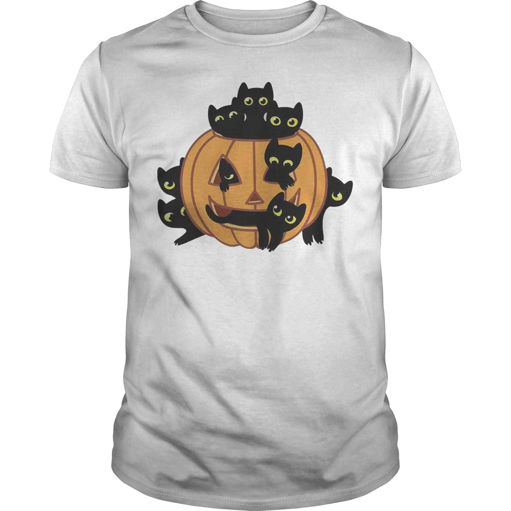 Black Kittens Pumpkin Halloween classic guy