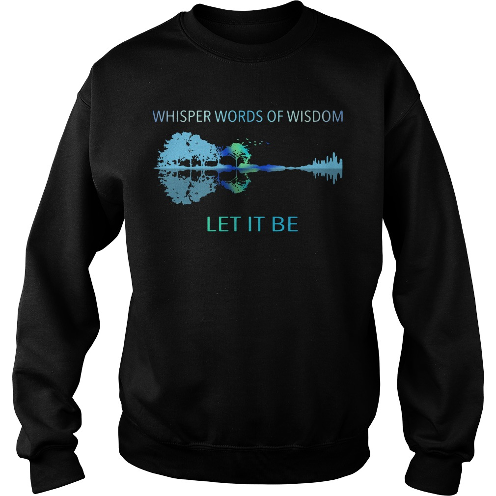 Guitar Whisper words of wisdom let it be sweater