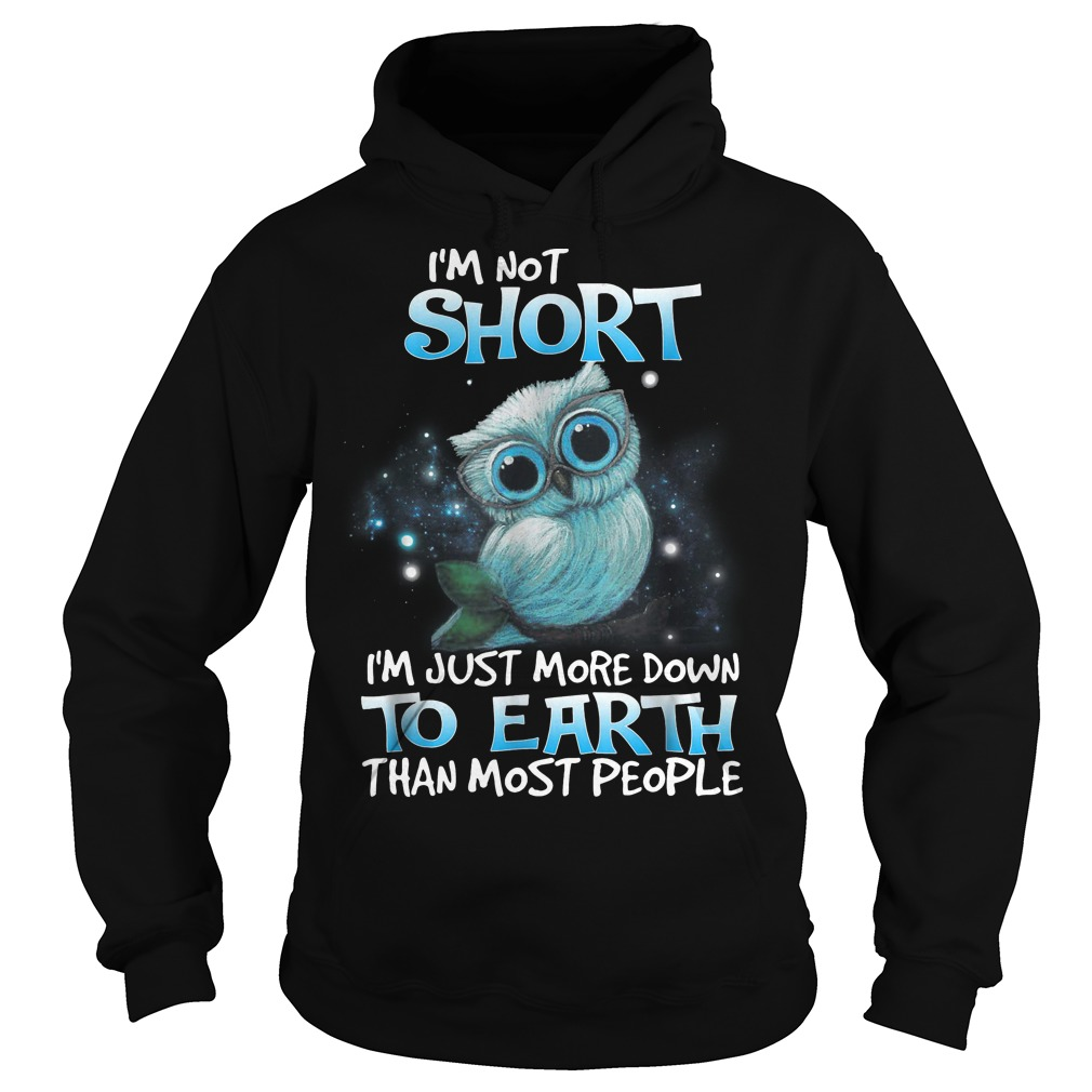 I'm not short I'm just more down to earth than most people Owl hoodie