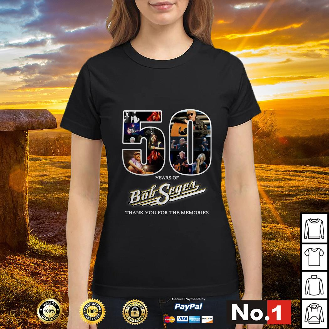 50 Years of Bob Seger thank you for the memories Ladies tee