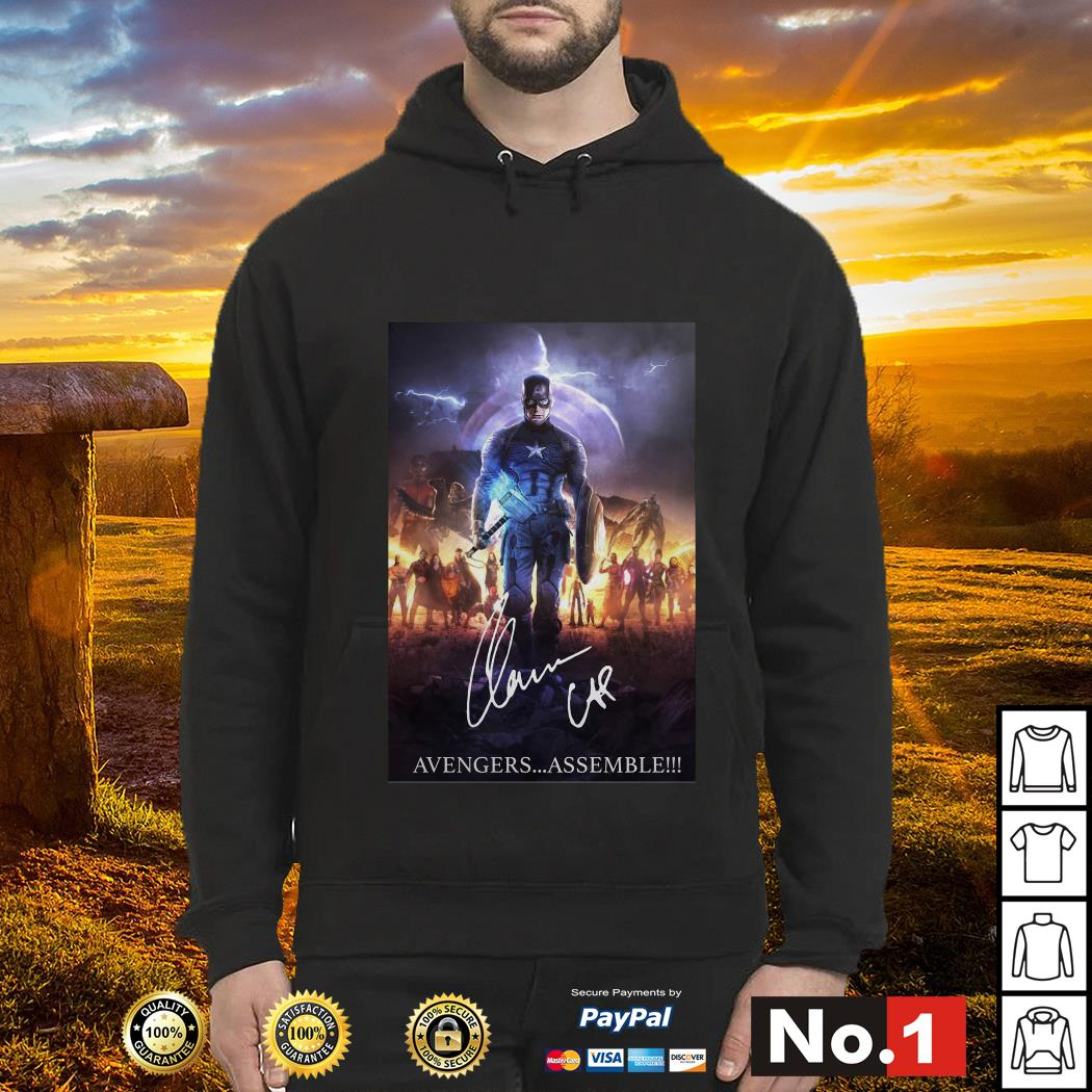 Captain America with Mjolnir Avengers assemble Hoodie