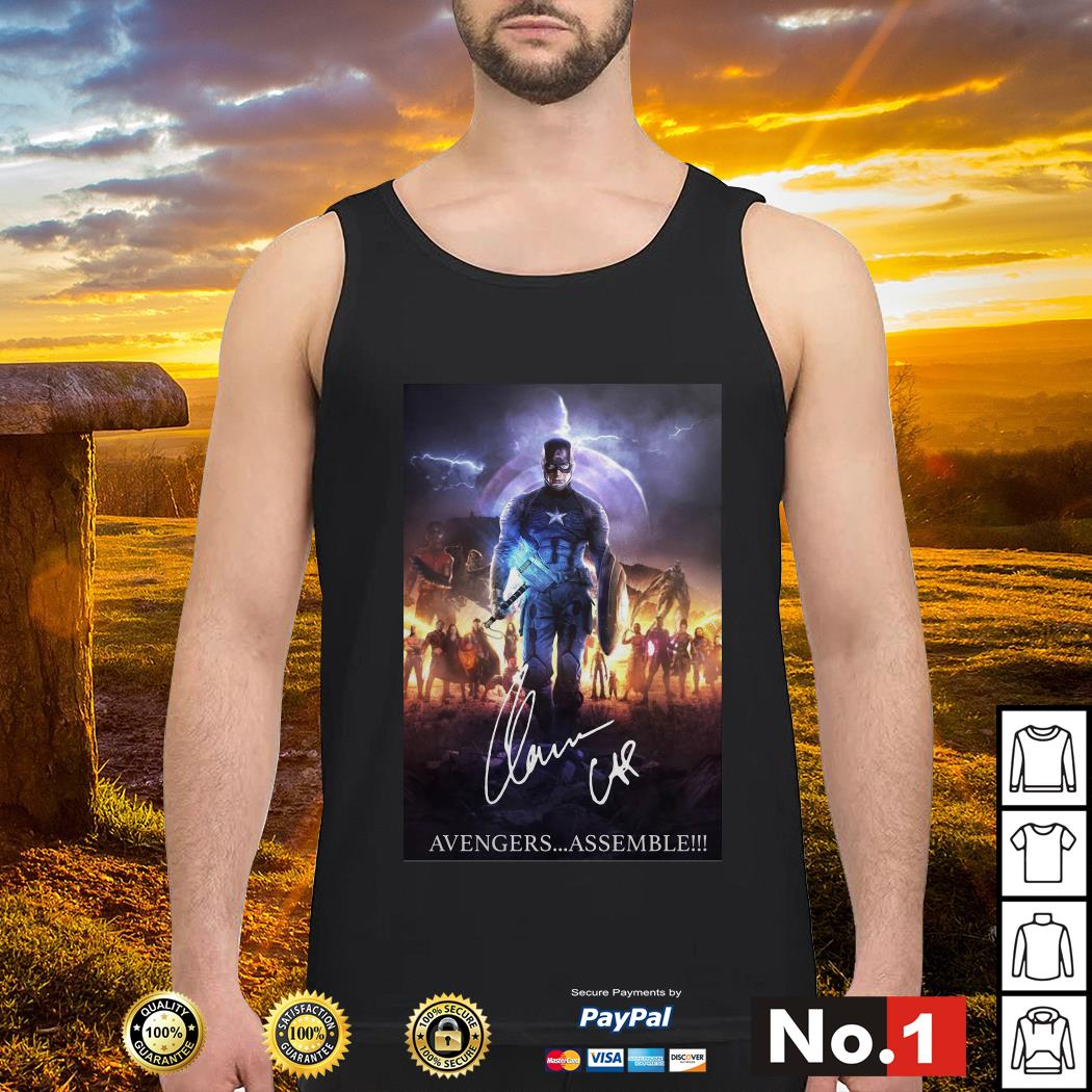 Captain America with Mjolnir Avengers assemble Tank top