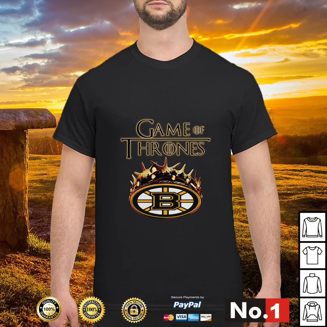 Game of Thrones Crown Boston Bruins shirt