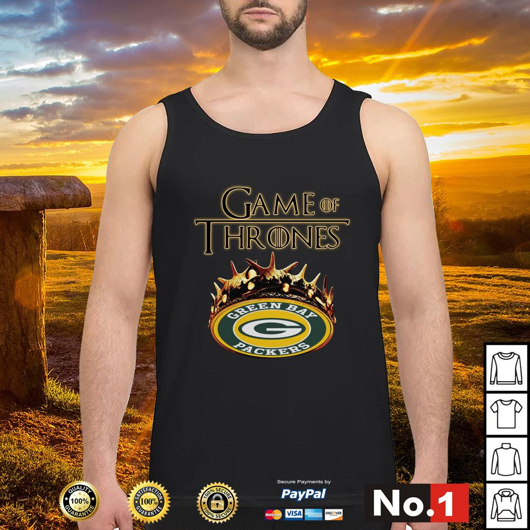 Game of Thrones Crown Green Bay Packers Tank top