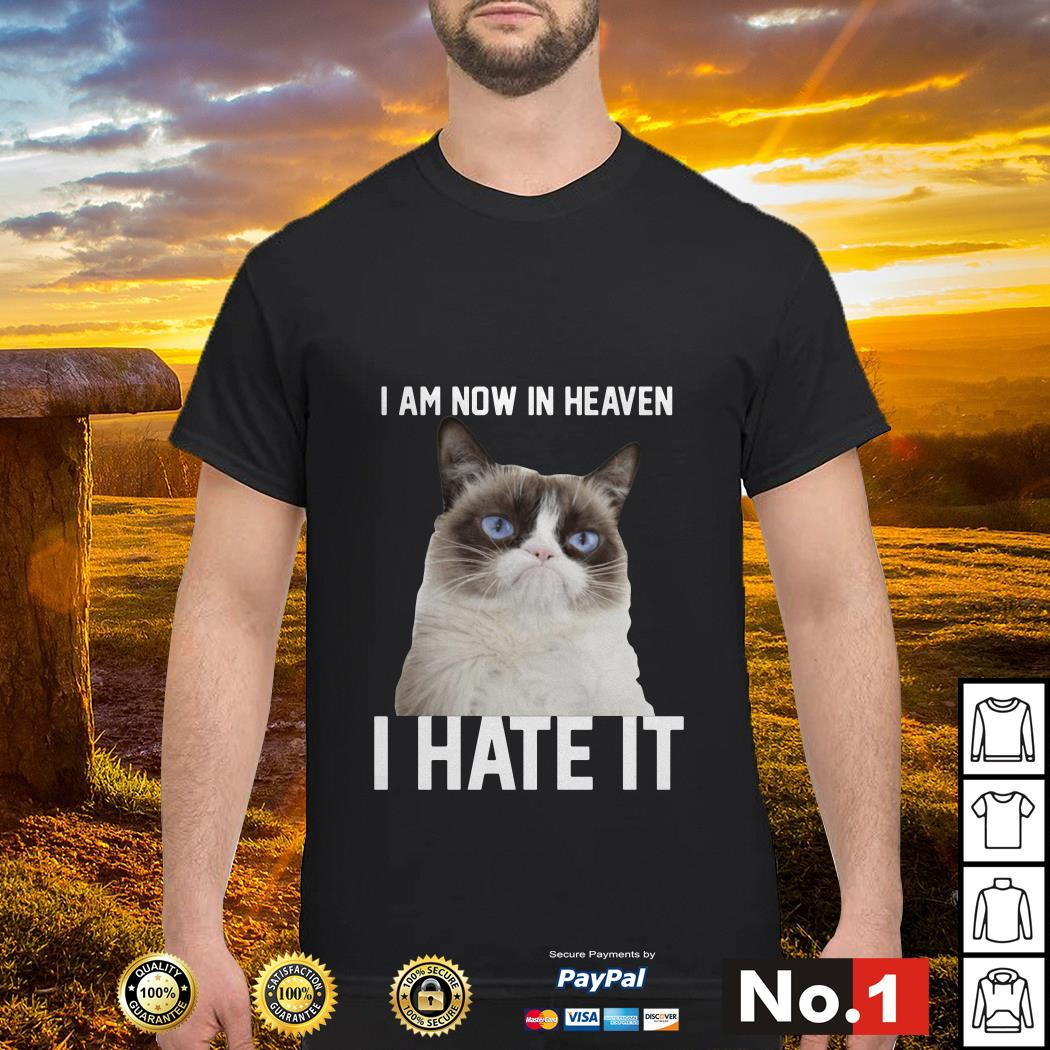 I am now in heaven I hate it shirt