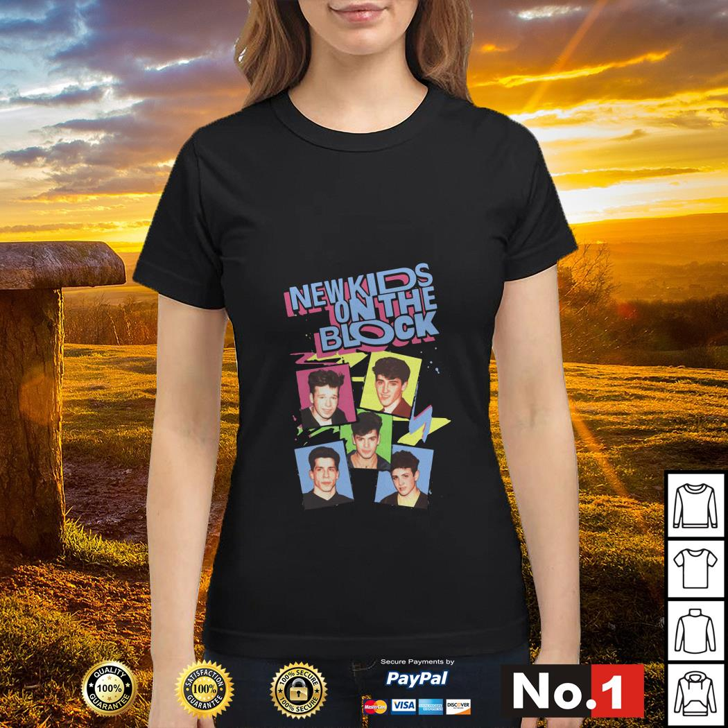 Pop Music Boy Band New Kids On The Block Ladies tee