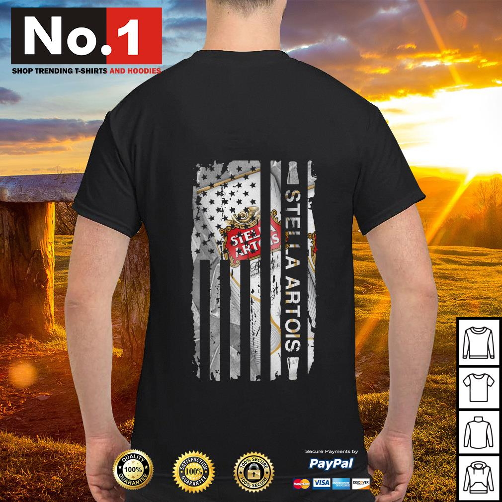 Stella Artois US flag shirt