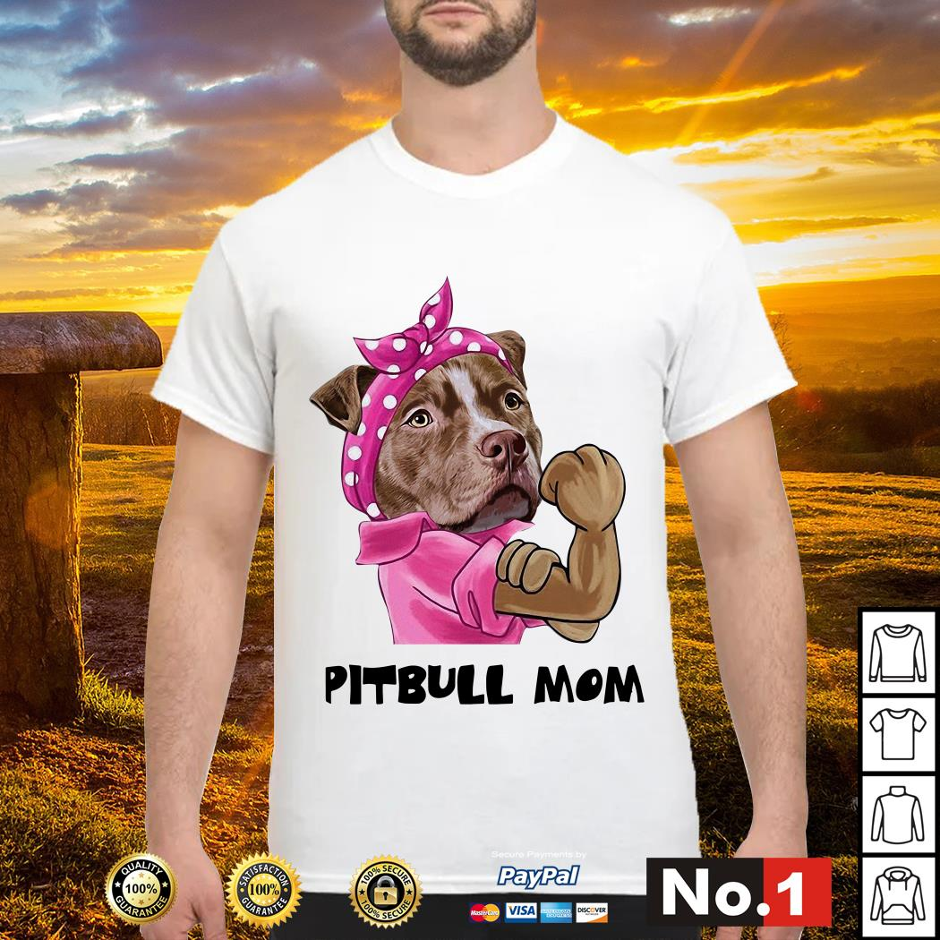 Bandana pink Pitbull mom strong mom shirt