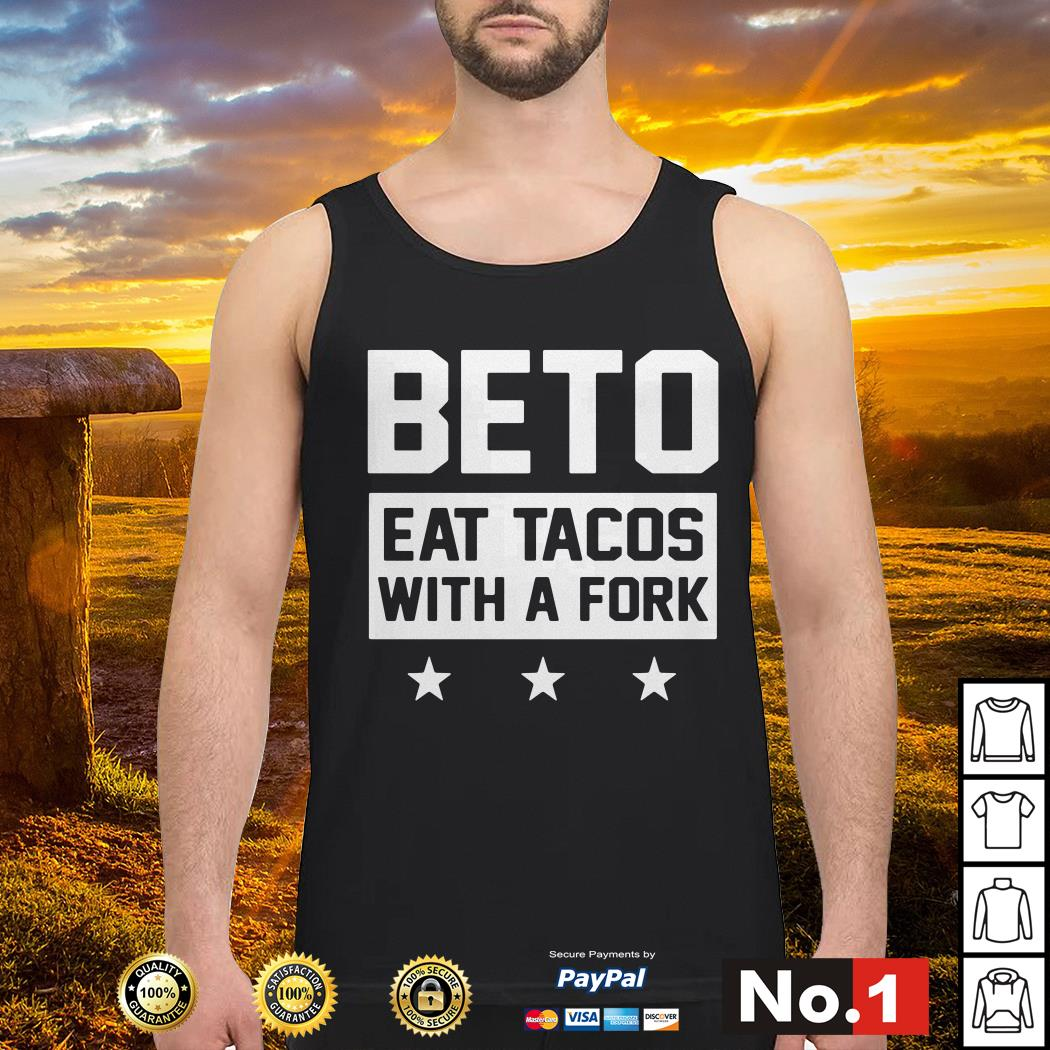 Beto eat tacos with a fork Tank top
