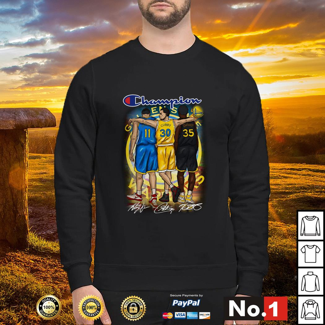 finest selection 042b5 b04a6 Champion Golden State Warriors Stephen Curry Klay Thompson ...