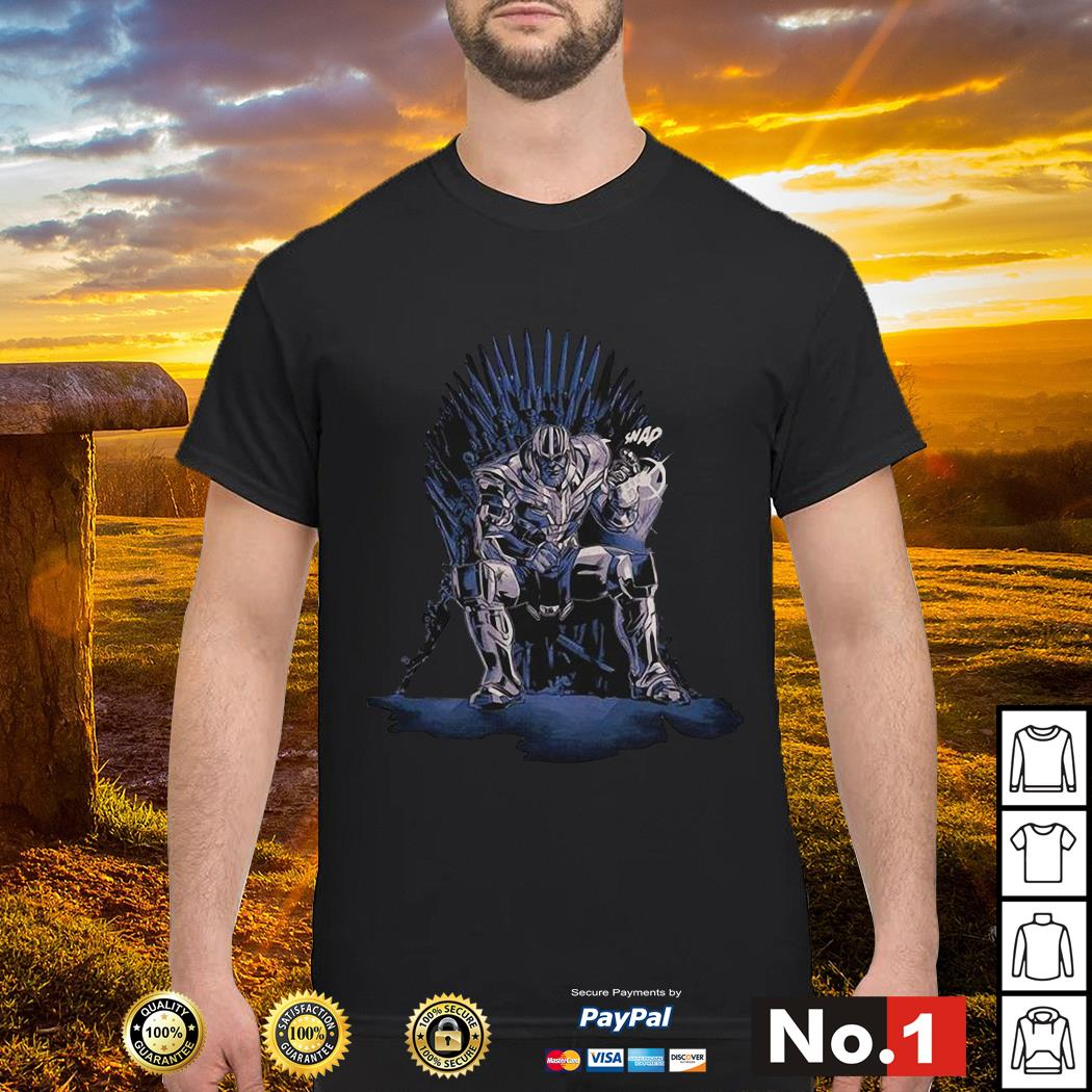 Game of Thrones king Thanos snap shirt, hoodie, sweater