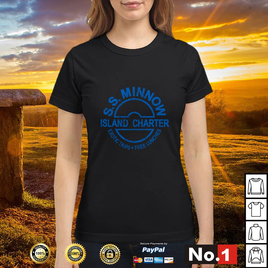 S.S.Minnow island charter exotic trips free lunches Ladies tee