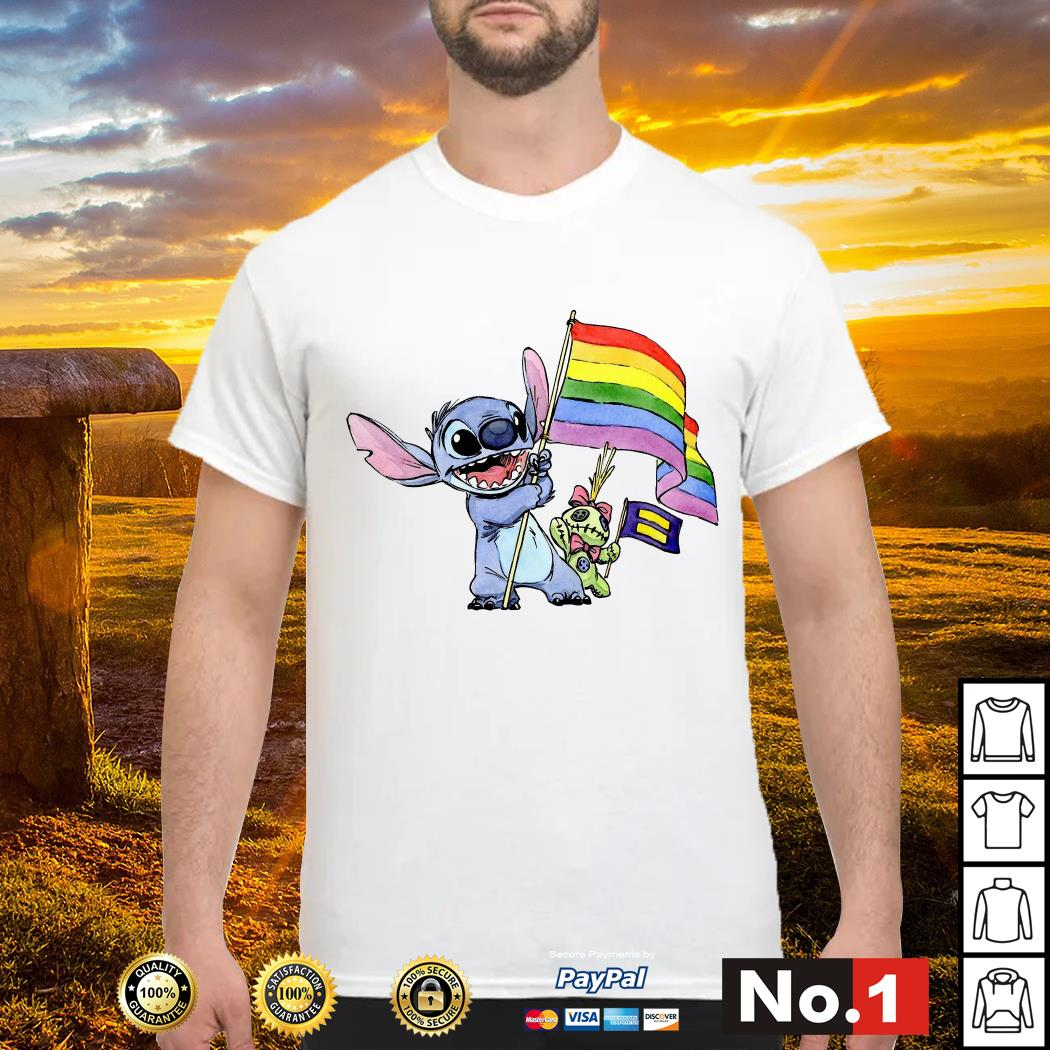 Stitch LGBT Pride flag shirt