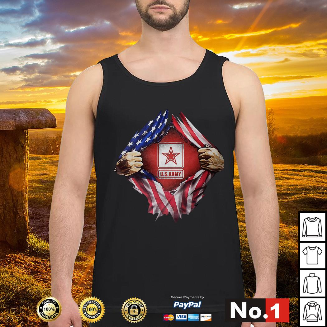 U.S.Army blood inside me 4th of July independence day Tank top