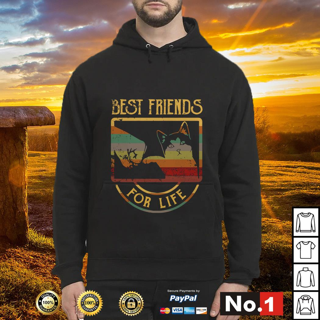 Cat best friends for life hoodie