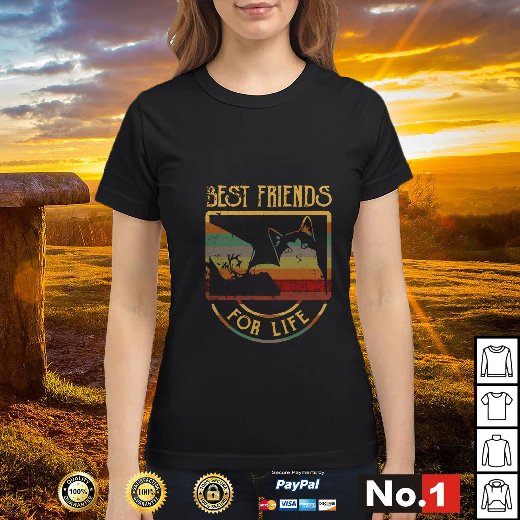 Cat best friends for life ladies-tee