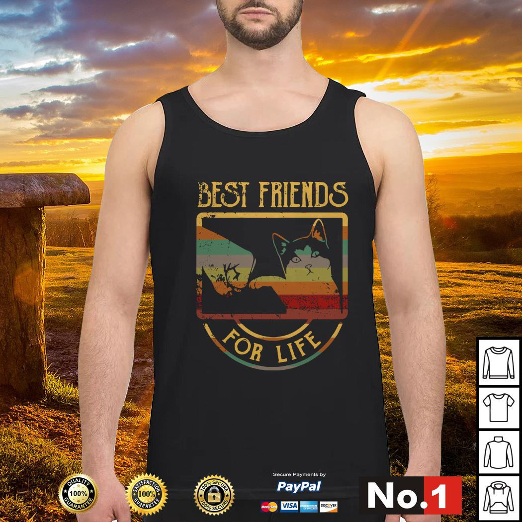 Cat best friends for life tank-top