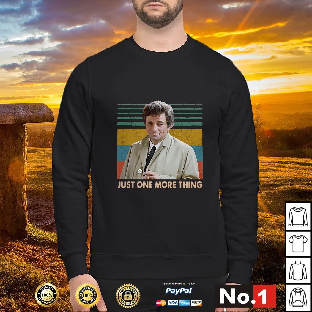 Columbo Just one more thing vintage sweater