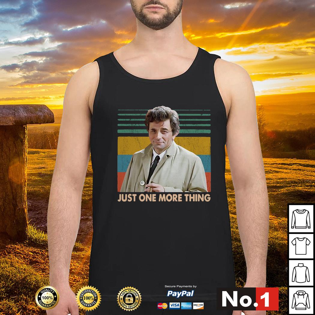 Columbo Just one more thing vintage tank-top