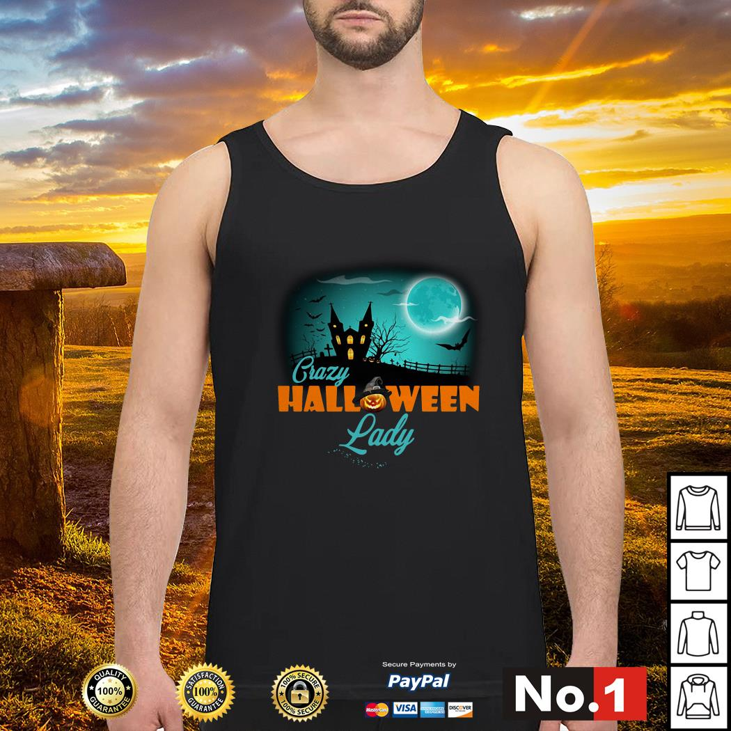 Crazy Halloween lady tank-top