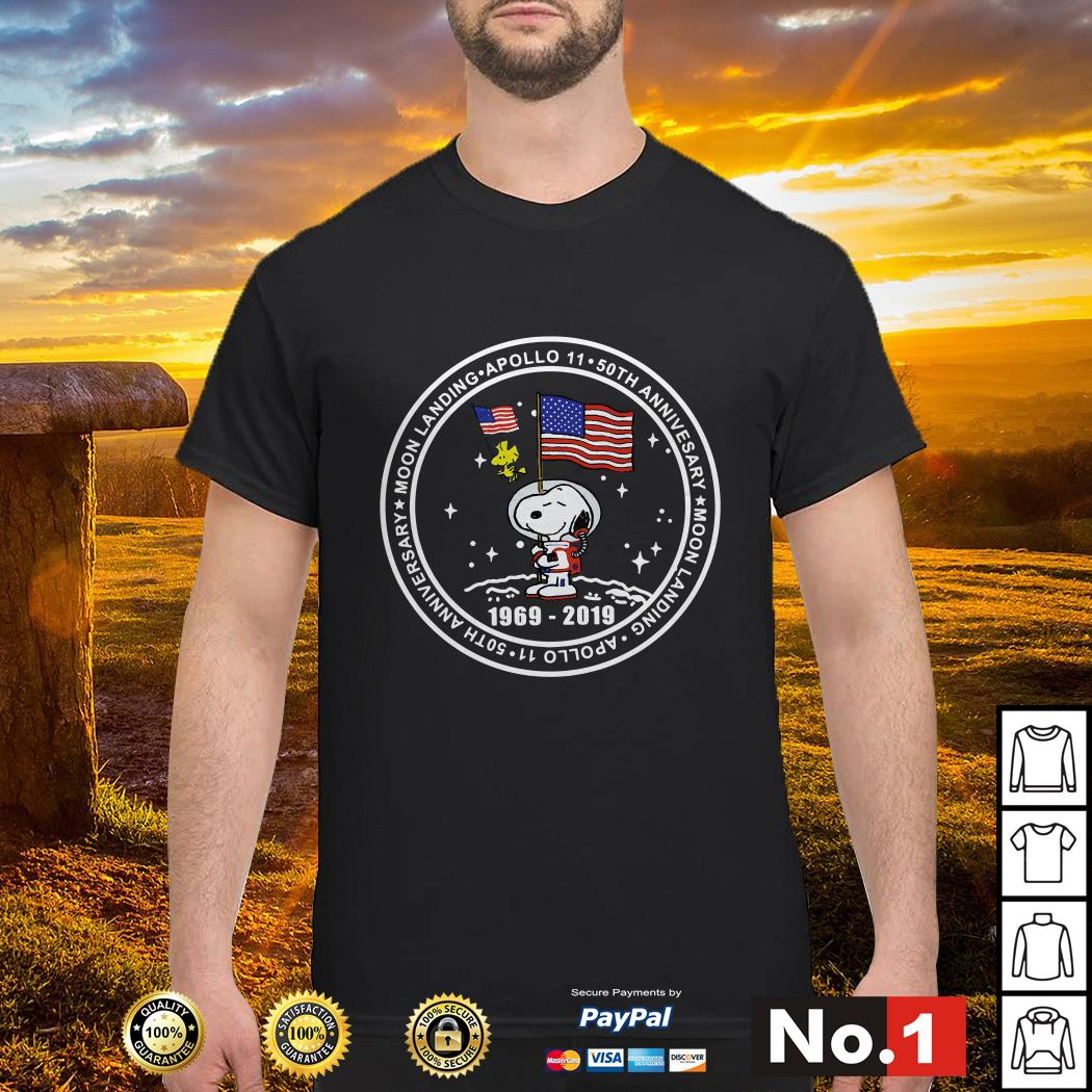 Snoopy moon landing Apollo 11 50th anniversary 1969-2019 shirt