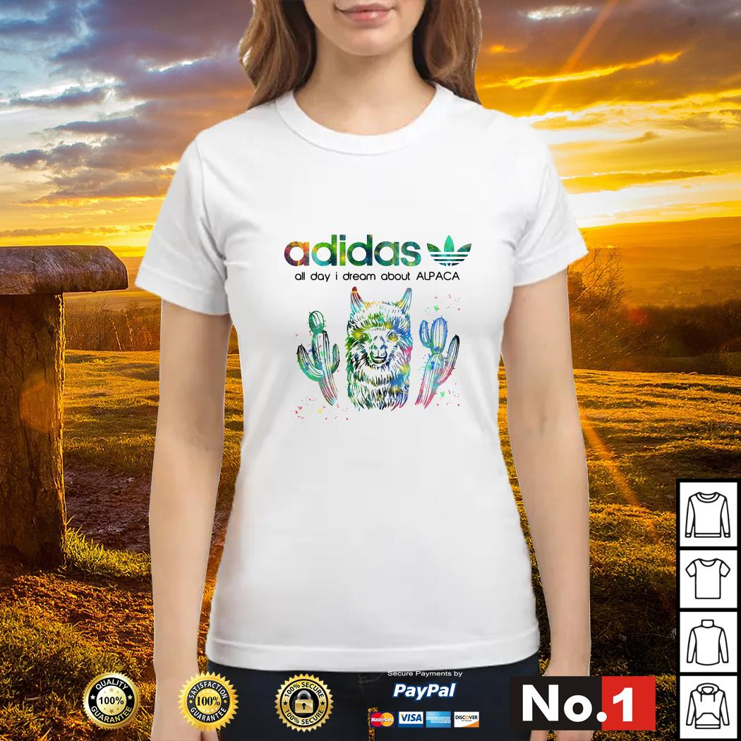 Adidas all day I dream about alpaca ladies-tee