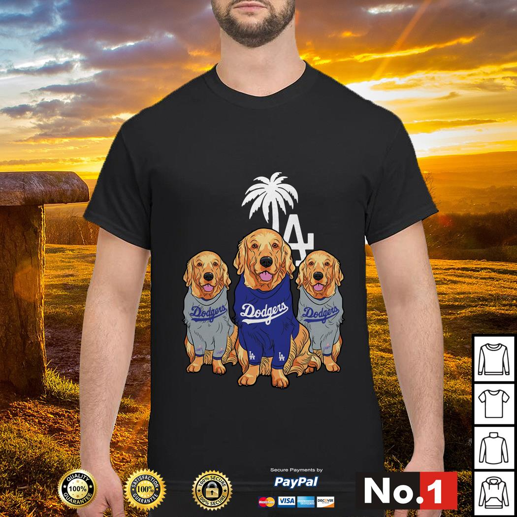 Golden Retriever Los Angeles Dodgers shirt