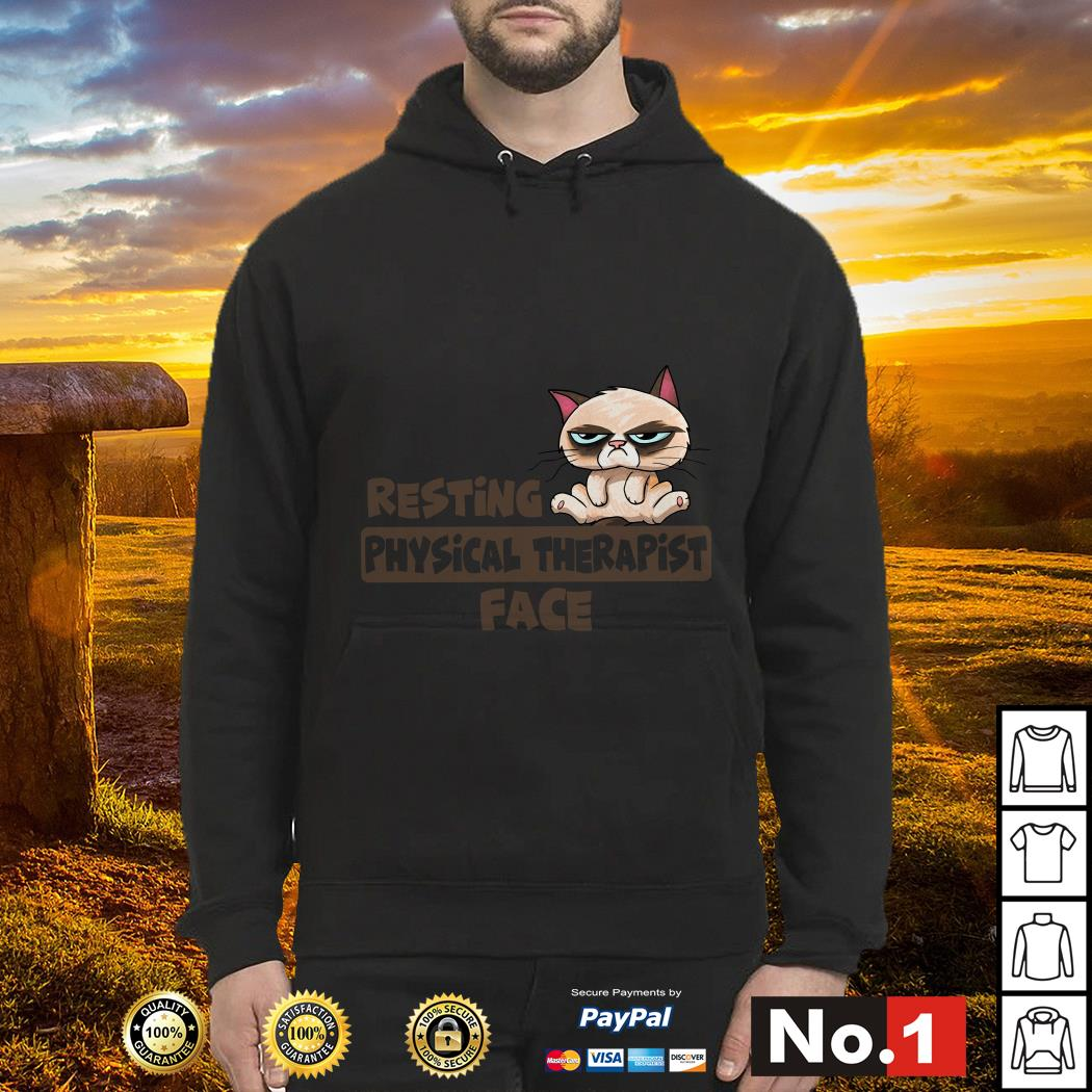 Grumpy Cat resting physical therapist face hoodie