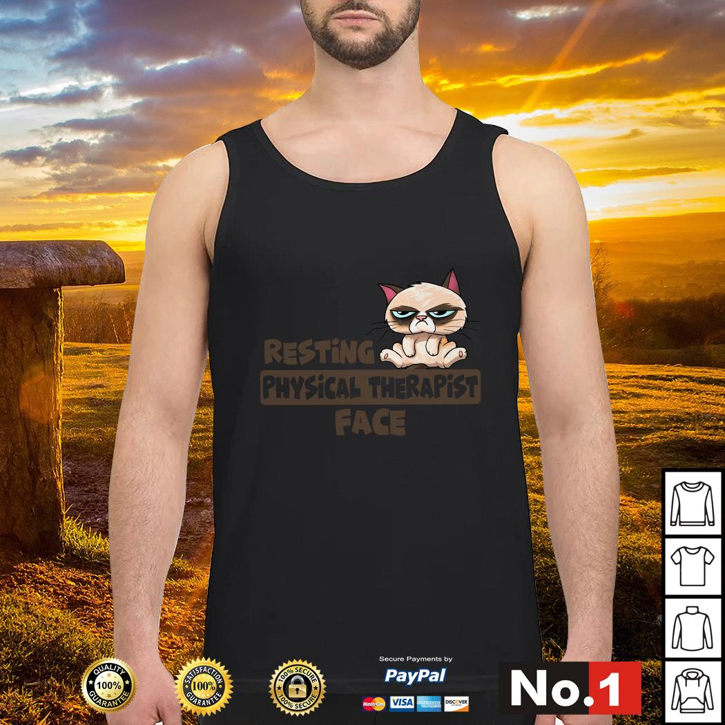 Grumpy Cat resting physical therapist face tank-top