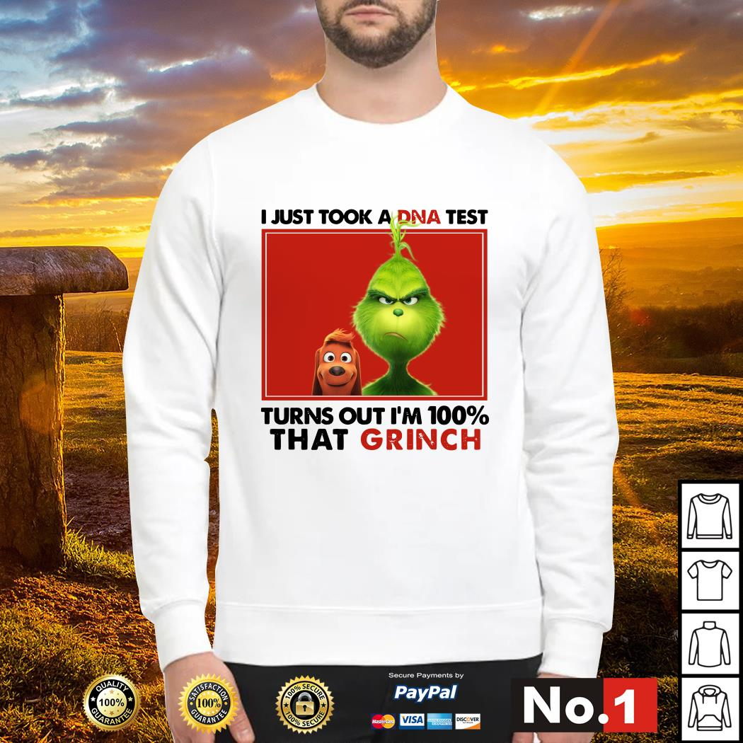 I just took a DNA test turns out I'm 100% that Grinch sweater