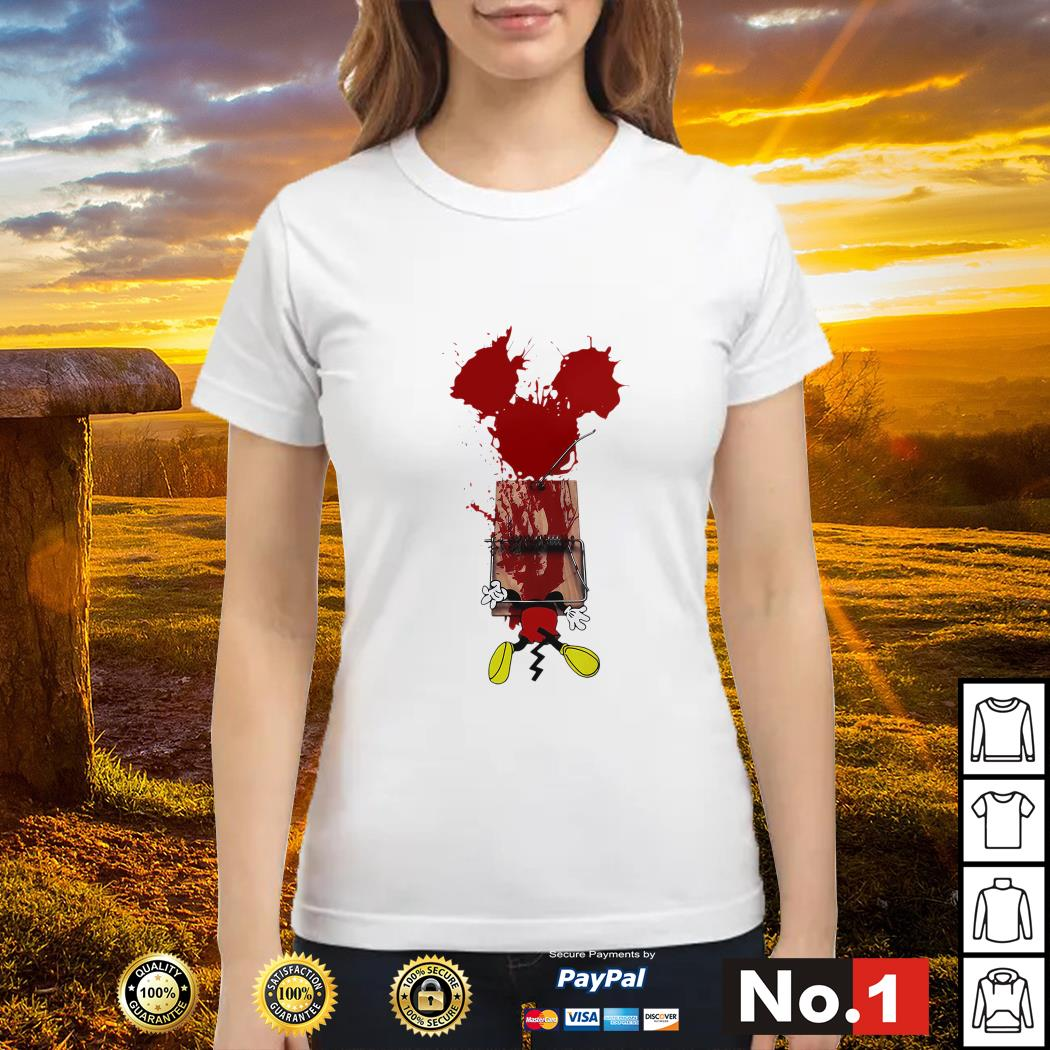 Mickey mouse trapped ladies-tee