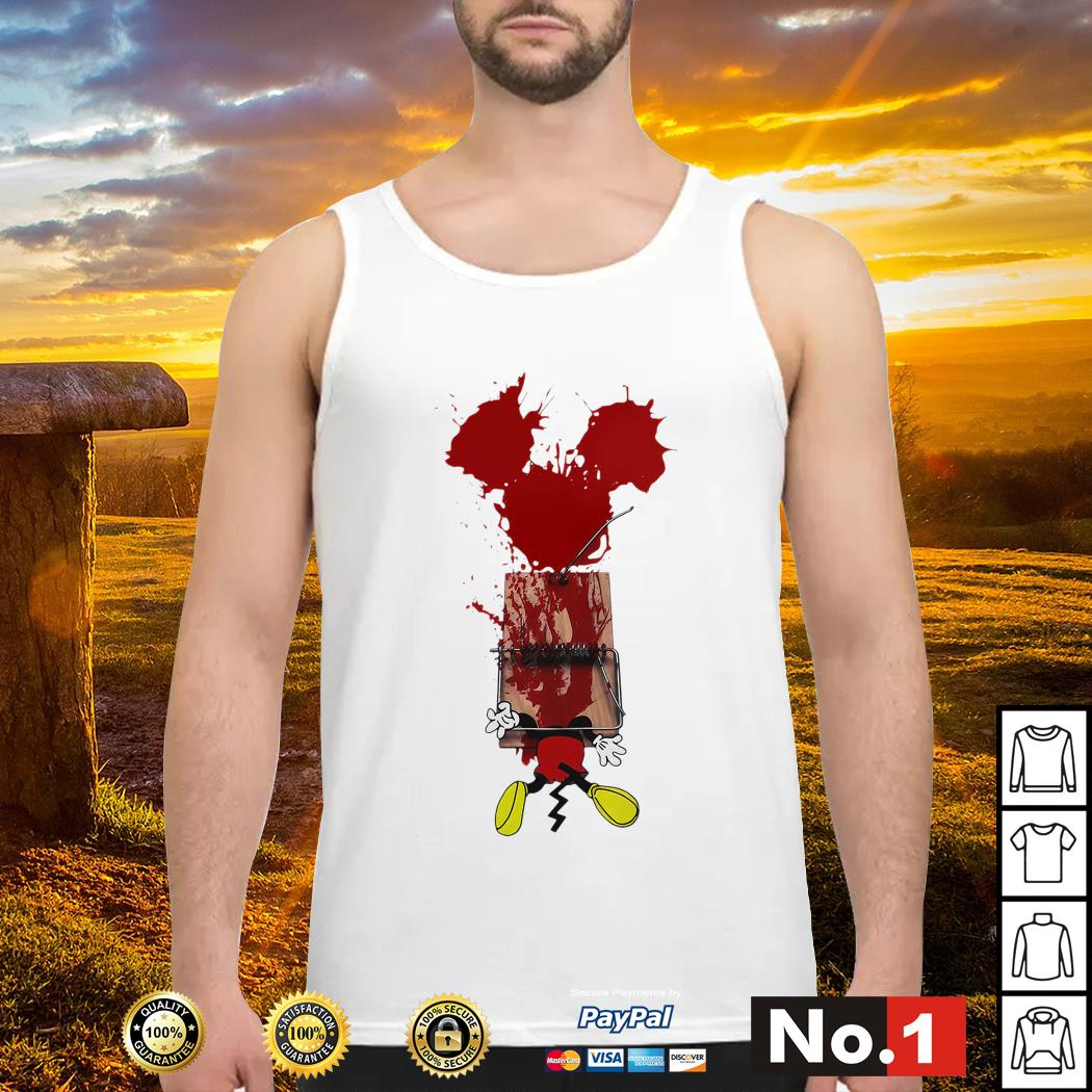 Mickey mouse trapped tank-top