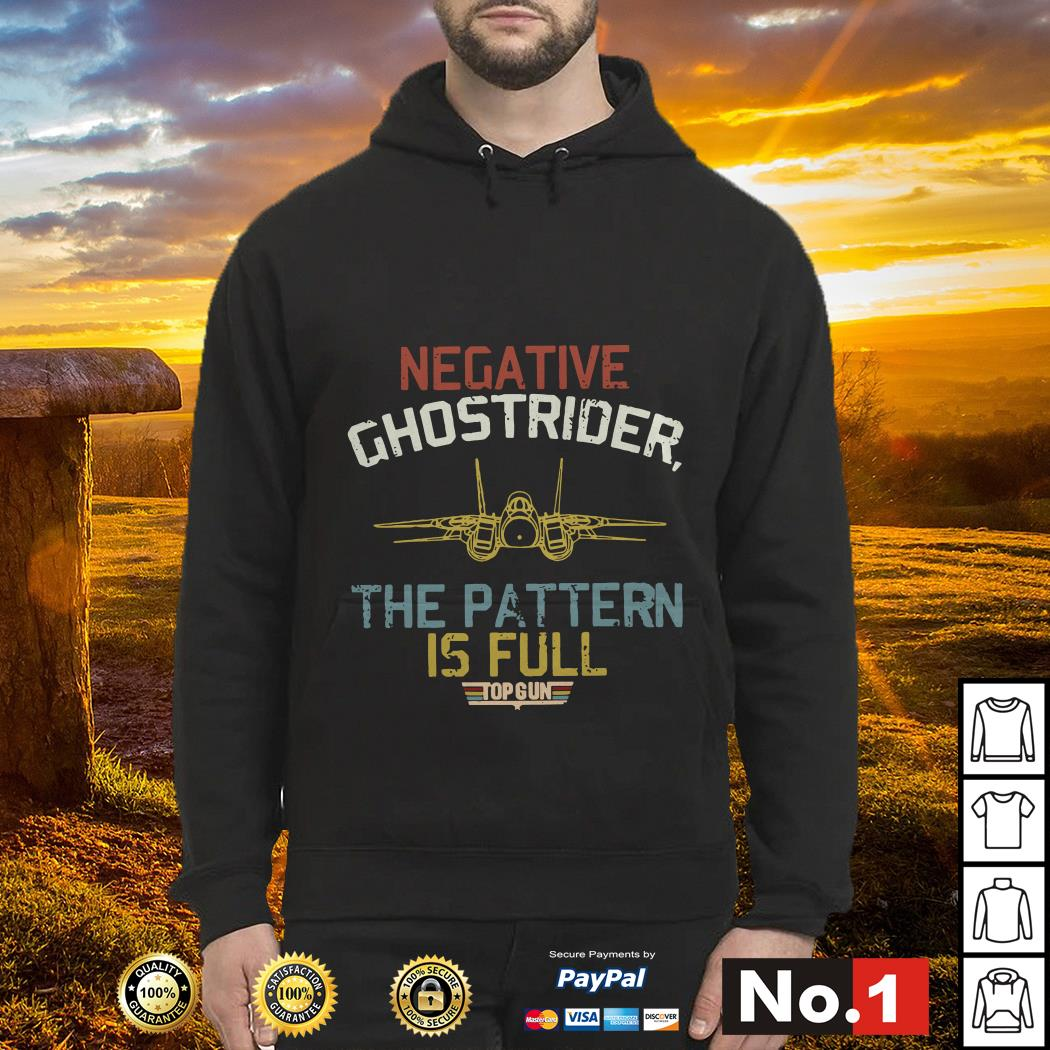 Negative Ghostrider the pattern is full Top Gun retro hoodie