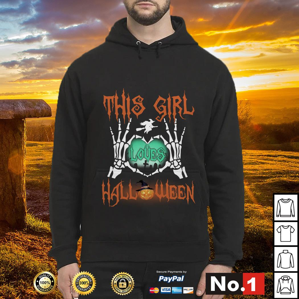 Official This girl loves Halloween hoodie