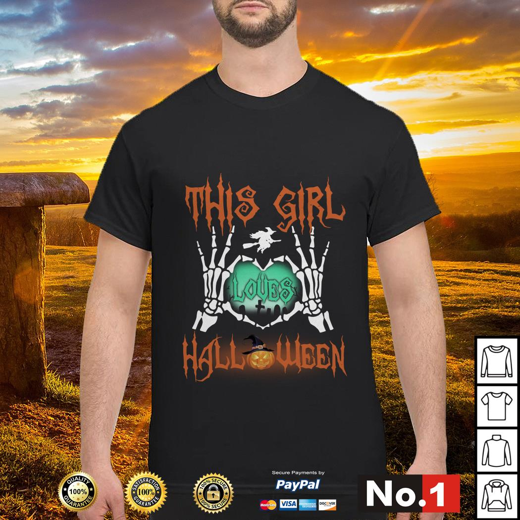 Official This girl loves Halloween shirt