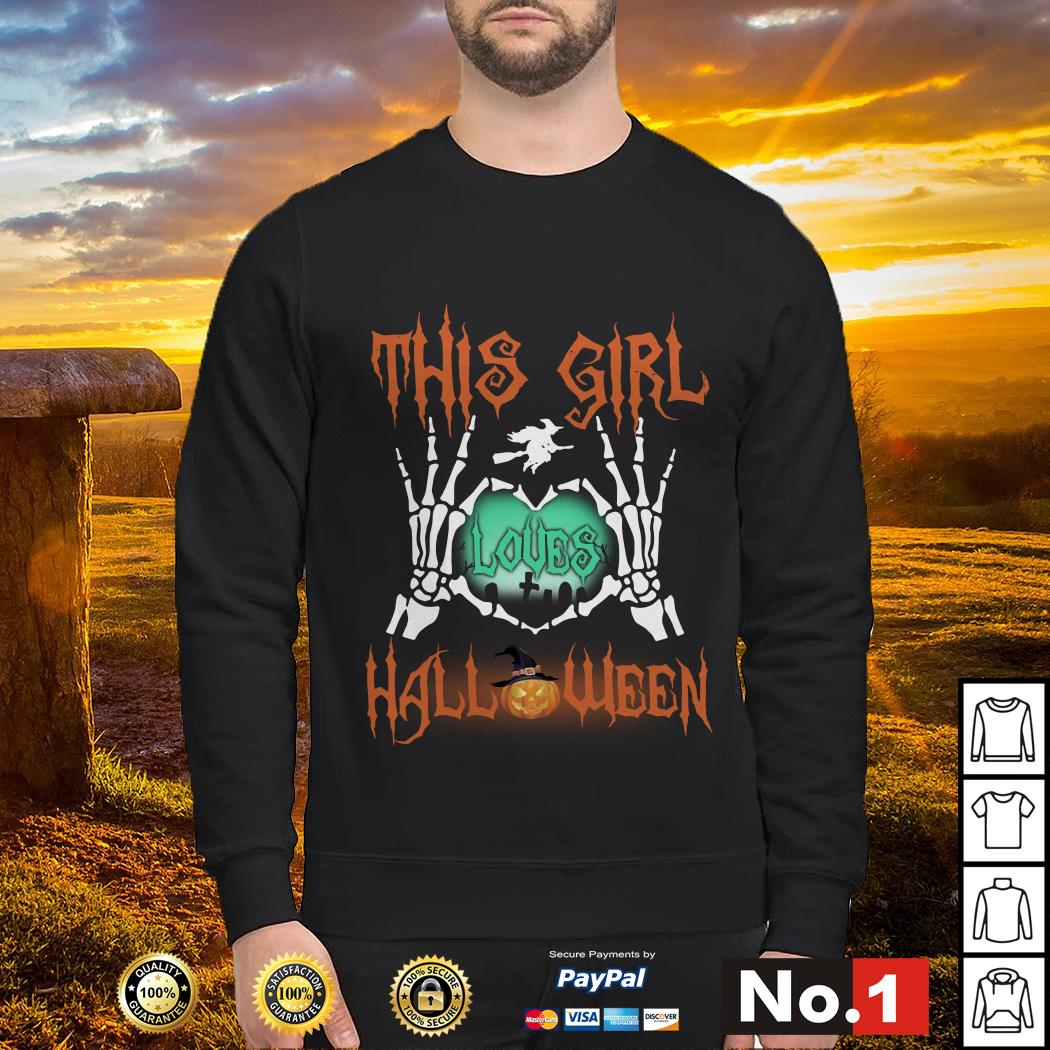 Official This girl loves Halloween sweater