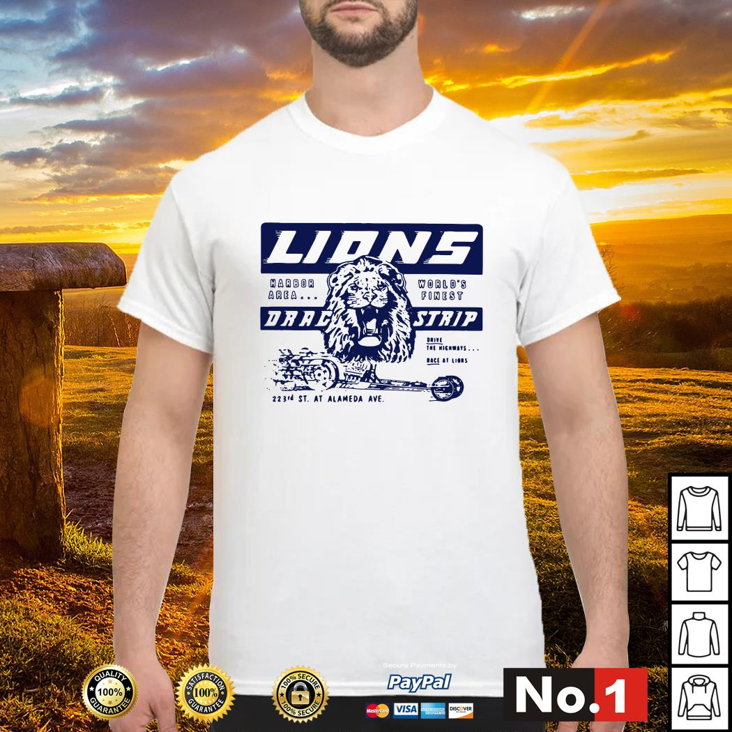 Once upon a time in Hollywood Lions drag strip shirt