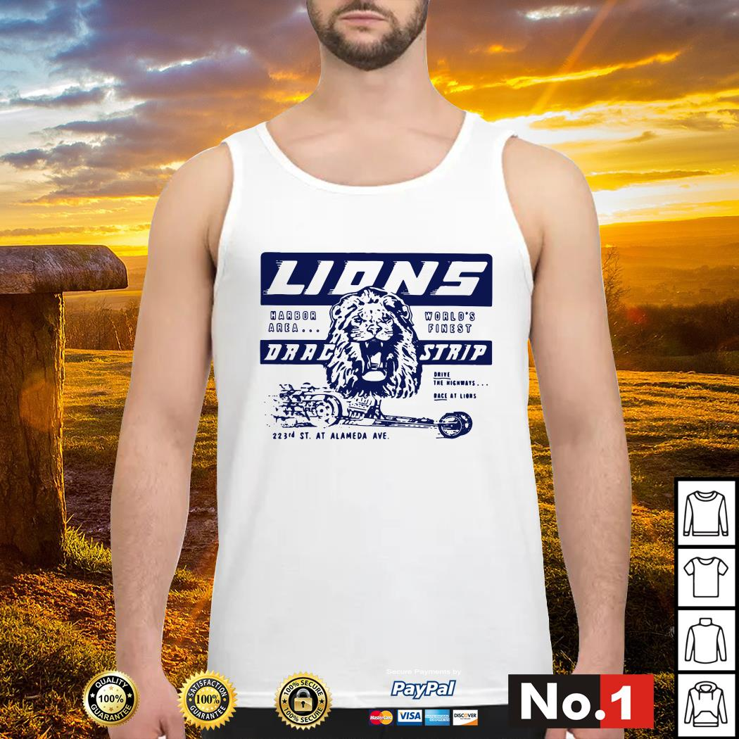 Once upon a time in Hollywood Lions drag strip tank-top