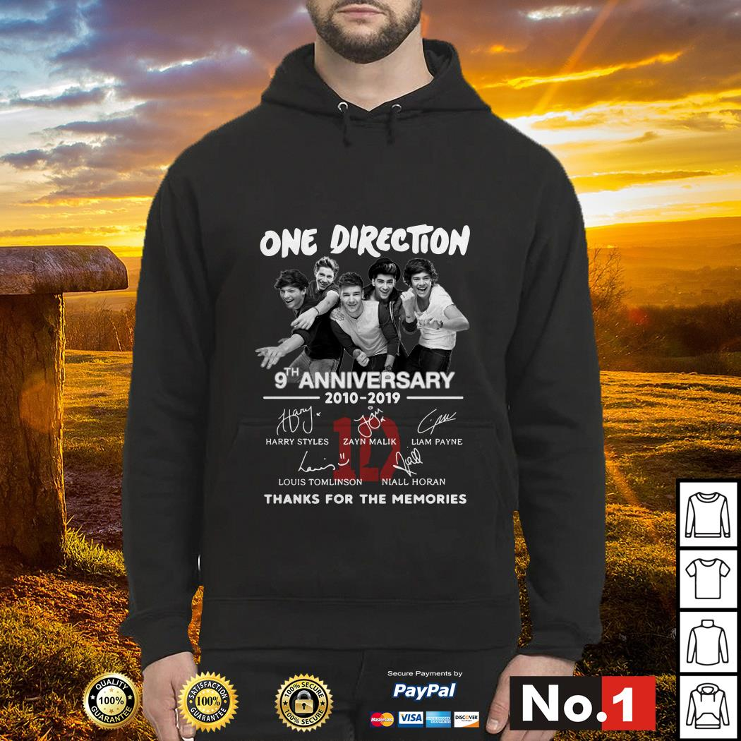 One Direction 9th anniversary 2010-2019 signature hoodie