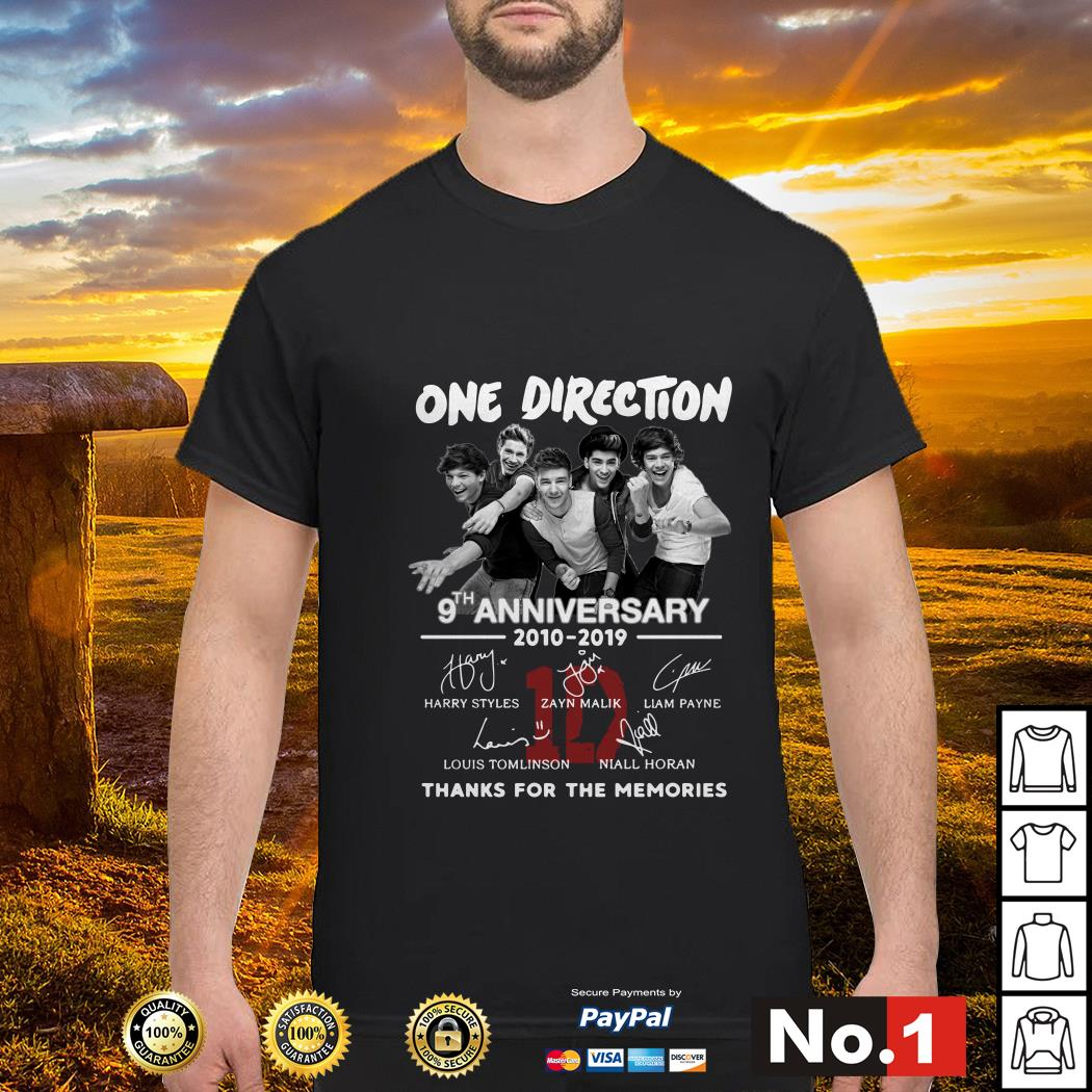 One Direction 9th anniversary 2010-2019 signature shirt