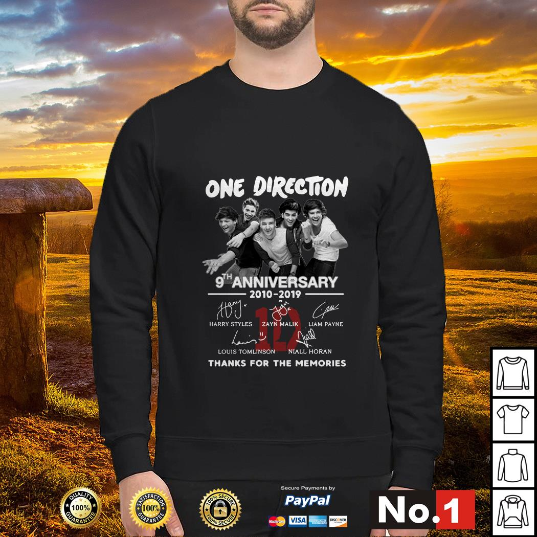 One Direction 9th anniversary 2010-2019 signature sweater