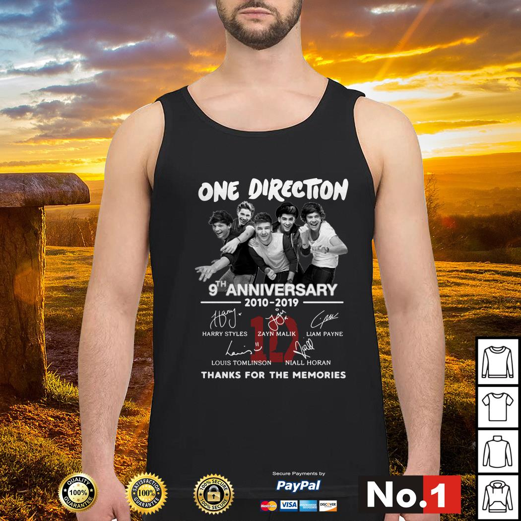 One Direction 9th anniversary 2010-2019 signature tank-top