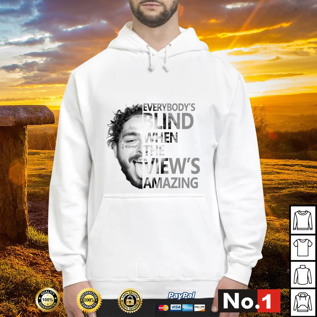 Post Malone everybody's blind when the view's amazing hoodie