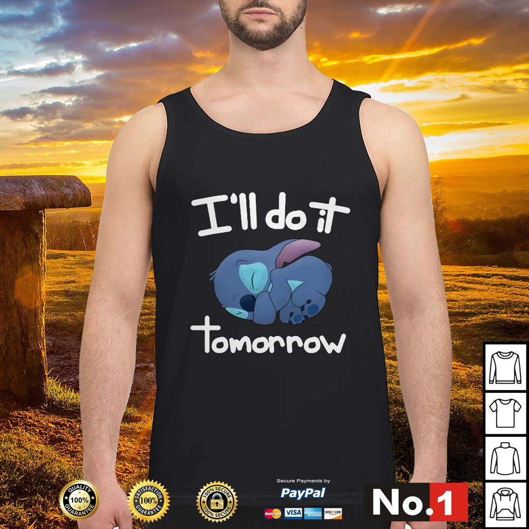 Stitch I'll do it tomorrow tank-top