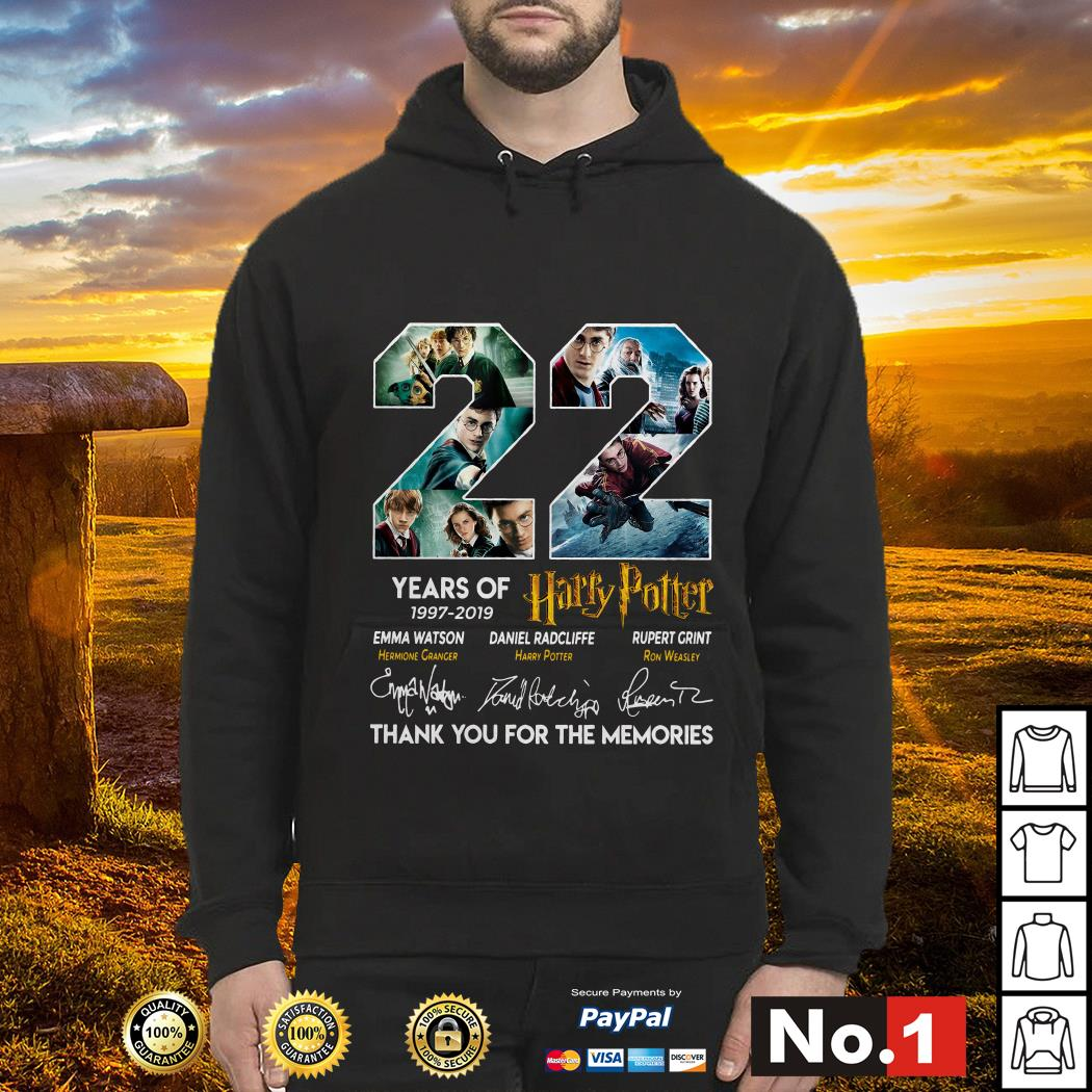 22 years of Harry Potter 1997-2019 thank you for the memories hoodie