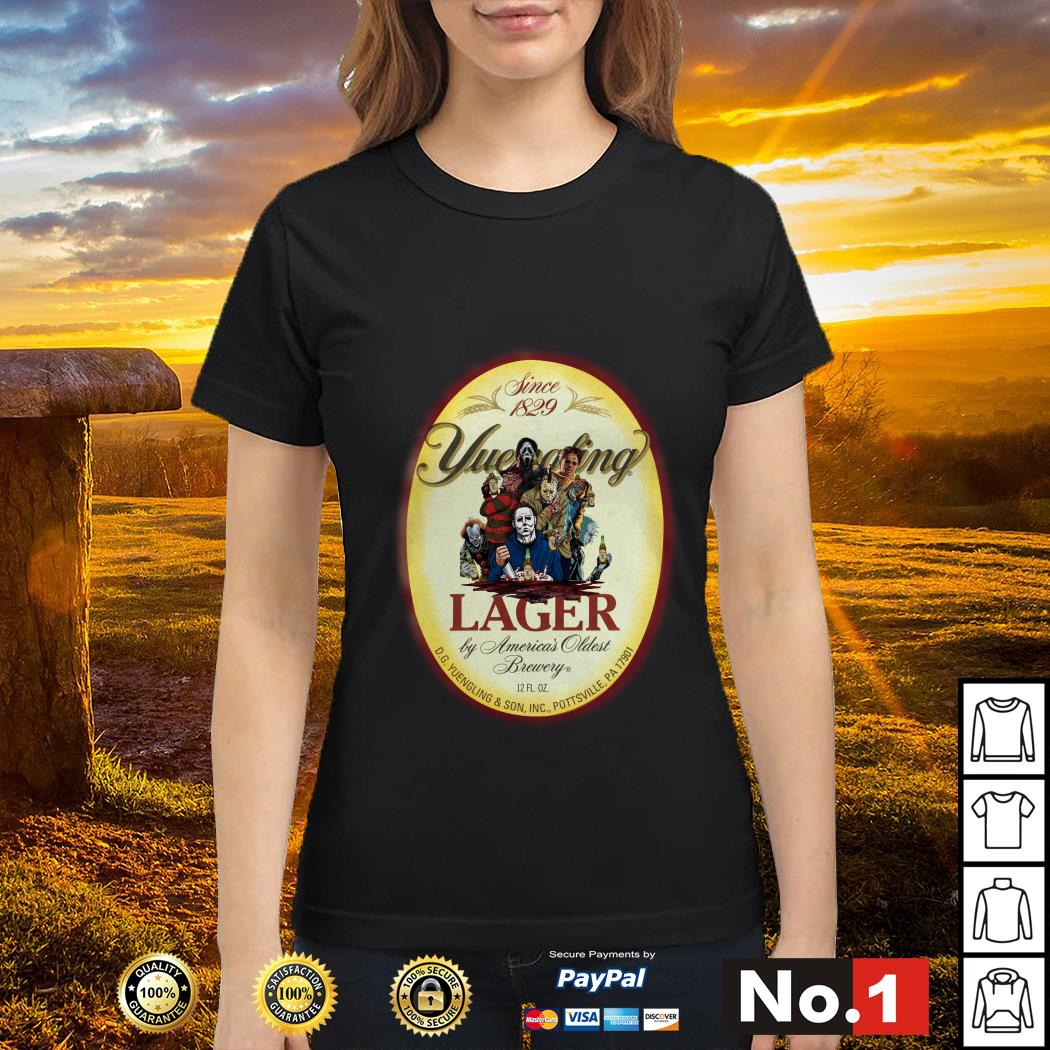 Horror Characters since 1829 Yuengling Lager by America's oldest brewery ladies-tee