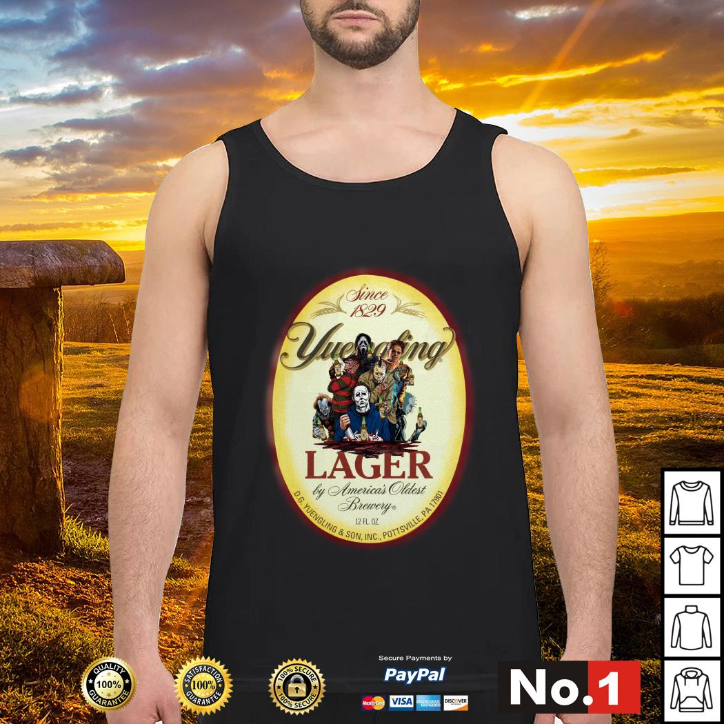 Horror Characters since 1829 Yuengling Lager by America's oldest brewery tank-top