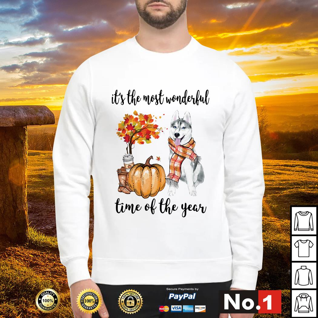 Husky it's the most wonderful time of the year sweater