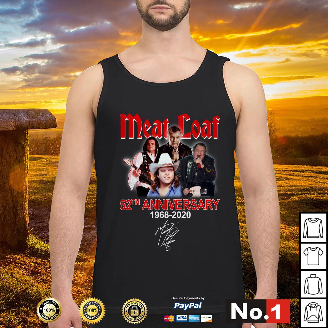 Meat Loaf 52th anniversary 1968-2020 signature tank-top